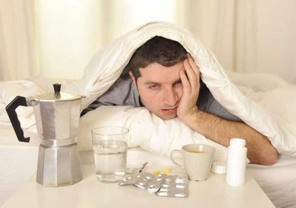 Утро после праздника с лекарствами