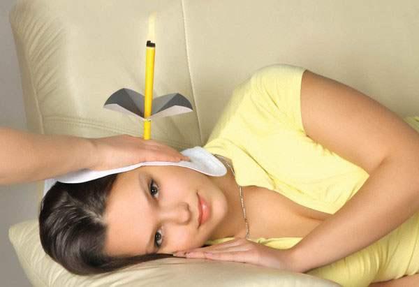 Контроль за горением ушной свечи