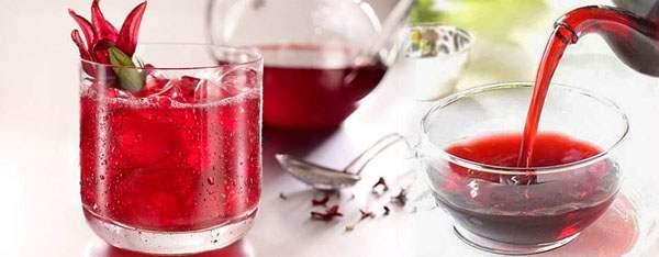 Приготовленный чай каркаде