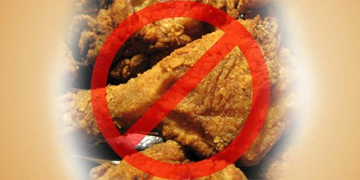 «нет» жирной и калорийной пище