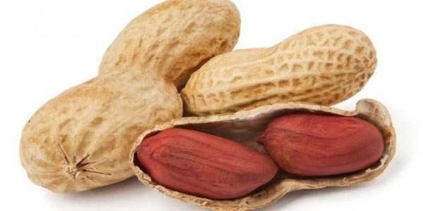 Плоды и очищенные семена арахиса