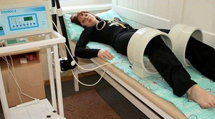 Проведение физиопроцедур с использованием токов высокой частоты