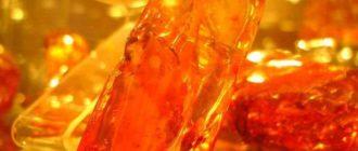 Фотография кусочков янтаря послуживших источником получения янтарной кислоты